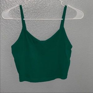 Green Forever 21 crop top